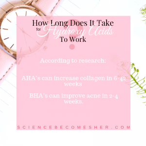 How long does it take hydroxy acids to work?