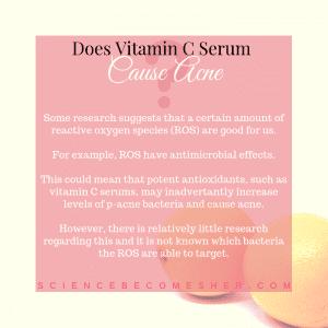 Does Vitamin C Serum Cause Acne?