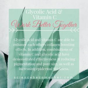Glycolic Acid and Vitamin C are Skincare Ingredients That Work Better Together