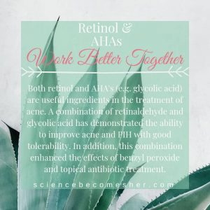 Retinol and AHAs are Skincare Ingredients That Work Better Together